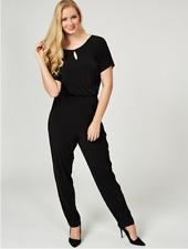 Kim & Co Brazil Knit Keyhole Jumpsuit Petite Length Black S