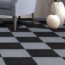 Carpet Tiles Peel And Stick Self Adhesive Squares Mat Black Basement Flooring