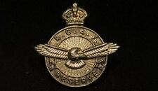 RCAF Reserve WWII Button Hole Silver Lapel Pin Signed Birks