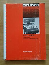 Studer A807 ii Bedienungsanleitung owner's manual original DE