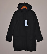 $650 LACOSTE Womens Classic Coat Jacket Trench Wool Cotton Black New 4 36