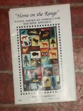"""Home on the Range"" Native American Animals for Machine Applique   Ct 14"
