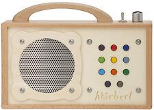 MP3-Player Für Kinder: hörbert. Platz für 17h Spielzeit, vorbespielt, aus Holz.