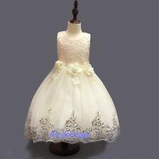 Girls Party Dress Kids Baby Flower Sequins Wedding Bridesmaid Christmas Princess