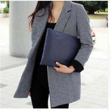 Women Flat Oversize Envelope Clutch Bag Lady Faux Leather Evening Party Handbag