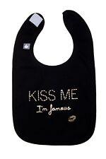 bavoir bébé 1er age en coton avec message kiss me BB&Co