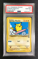 2001 Pokemon Black Star Promo Surfing Pikachu #28 PSA 10 GEM MINT