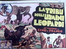 Avventure di Cino e Franco - Tribù uomini leop 1973 -  Anastatica Nerbini [C21C]