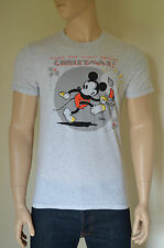 New abercrombie & fitch mickey mouse noël graphic tee t-shirt gris clair xl