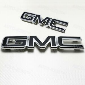Black Emblem Kit Front & Rear Combo Set New 84395036 GM For 2015-2019 GMC Yukon