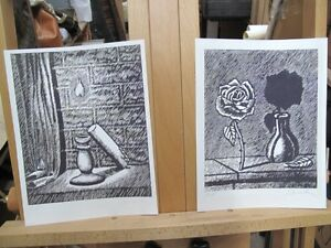 2 ROBERT DOWD SIGNED Artist proofs prints ART