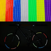 Fluorescent Bike Bicycle Sticker Cycling Wheel Rim Reflective Stickers Decal