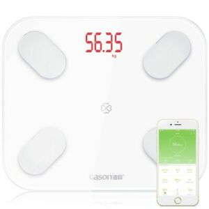 Fat Scale Electronic Toughened Glass Android IOS Support Weight Measurement Tool
