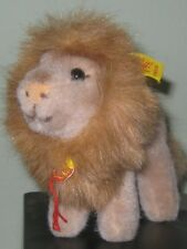 "Steiff 5"" Leo the Lion Standing 1461/12 w/Button/2 Tags Excellent Condition"