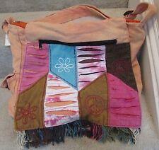 Hand Crafted Bohemian Boho Bag Orange Made in India NWT Brand New