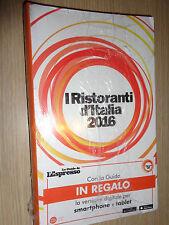 LIBRO BOOK GUIDA I RISTORANTI D'ITALIA 2016 LE GUIDE L'ESPRESSO
