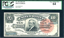 1886, $10 SC, FR # 293, FINEST KNOWN (RARE), PCGS 64, ONLY 2 IN THIS GRADE, POP