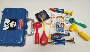 Fisher Price 10 piece Doctor Medical Kit Nurse Pretend Play Vintage 1997