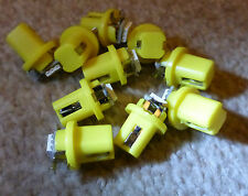 10x T5 B8.5 D Gauge 5050 1SMD LED GIALLO SPEEDO Dashboard dash Lato Lampadina