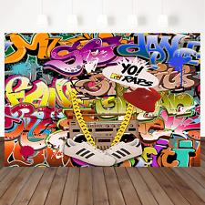 Mehofoto Hip Hop Graffiti Backdrop Retro 80th 90th Themed Party Photography Art