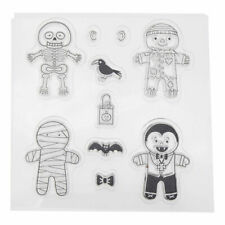 New*Clear Stamps*HALLOWEEN MUMMY SKULL SCARECROW*Birthday*Scrapbook*Cards*Topper