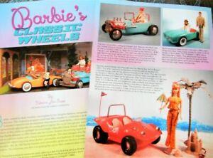7p History Article - VTG Barbie Doll Sportscars - Austin Healy MB Vette Porsche+