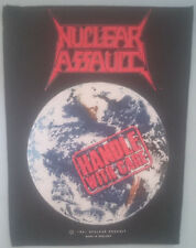 Nuclear Assault Vintage Backpatch - Handle With Care - Original 1991 Patch