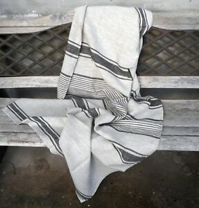100% LINEN THROW Blanket Provance French Striped - 100% linen - countrystyle