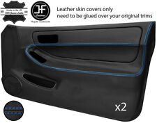 BLUE STITCH 2X FULL DOOR CARD LEATHER COVER FOR HONDA INTEGRA TYPE R DC2 93-01