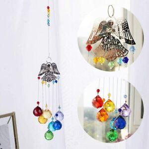 Hanging Crystals Suncatcher Guardian Angel Crystal Pendant Ornament Ball Decor
