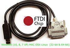 FTDI USB Mazak T Plus T1 T2 T6 T32 CNC DNC Cable Software Flow Control