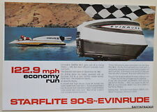 Evinrude Starflite 90-S Outboard Motor  1964  Magazine Print Ad 7 x 10