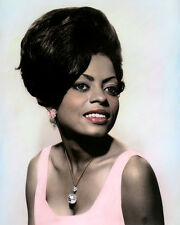 "DIANA ROSS AFRICAN AMERICAN SINGER ACTRESS 8x10"" HAND COLOR TINTED PHOTOGRAPH"