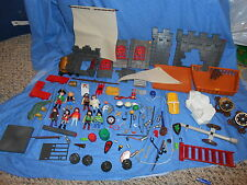 LOT OF PLAY MOBIL FIGURES WEAPONS ACCESSORIES & MORE PIRATES CASTLE DINOSAURS