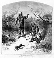 VIRGINIA NEGROES RABBIT HUNTING CHRISTMAS DINNER GONE RABBIT ESCAPES NEGRO