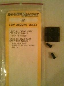 Weaver Scope Mount 28