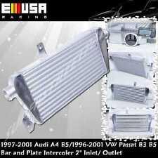 """Bar&Plate Intercooler 2"""" I/O fit 00-01 Audi A4 Quattro Avant Wagon 4D 1.8T"""