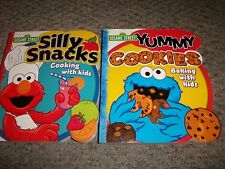 Lot 2 SESAME STREET SILLY SNACKS YUMMY COOKIES BOARD BOOKS KID CHILD COOKBOOK