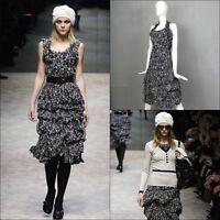 BURBERRY PRORSUM Cocktail Silk Chiffon Top Skirt Dress Suit Size 38 XS US 2 UK 6