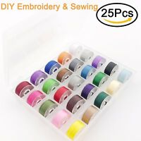 New brothread 25 pcs Embroidery Bobbin Thread for Embroidery and Sewing Machine