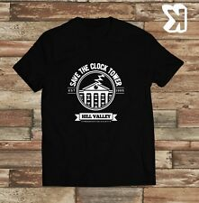 Back to the Future Save the Clock tower Movie T-shirt (Small,Medium,Large,XL)