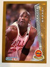 Michael Jordan Fleer 92-93 Basketball Card #246 Near Mint+