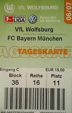 TICKET 2006/07 VfL Wolfsburg - Bayern München