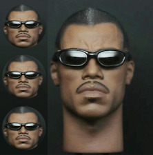 """1/6th Blade Warrior Wesley Snipes Man Head Carved F 12"""" Male Body Model Toy"""