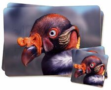 King Vulture Bird of Prey Twin 2x Placemats+2x Coasters Set in Gift Box, AB-66PC