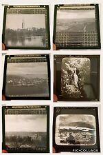Job Lot 6 x Vintage Glass Magic Lantern Slides, Mixed Lot