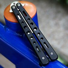 Stainless Practice Balisong Butterfly Dull Knife Trainer Training Mental Tool