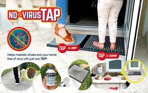 Shoe Sanitizing Mat 2 Step (SANITIZER INCLUDED) NO VIRUS TAP - Disinfectant Mat