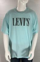 Levi's T-Shirt Size Large L Teal Blue Short Sleeve Tee Men's Cotton NWT
