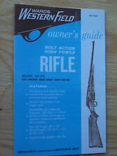 WARDS WESTERN FIELD BOLT ACTION MODEL SB-712 HIGH POWER RIFLE OWNERS MANUAL